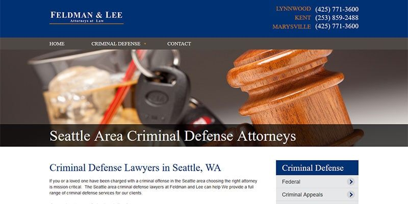 Criminal Defense Lawyers In Seattle Wa Legal Web Design