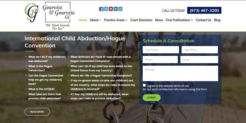 Gourvitz and Gourvitz LLC law website.