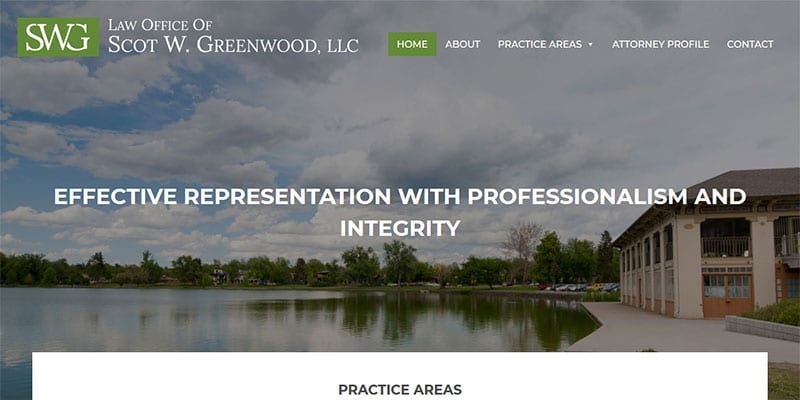 Law Office of Scot W. Greenwood LLC website.