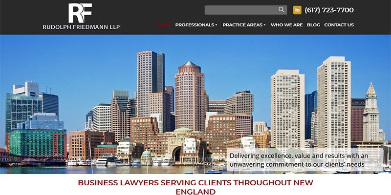 Rudolph Friedmann LLP law website.