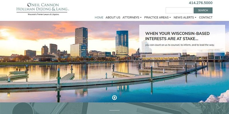 Oneil Cannon Hollman DeJong and Laing law website.